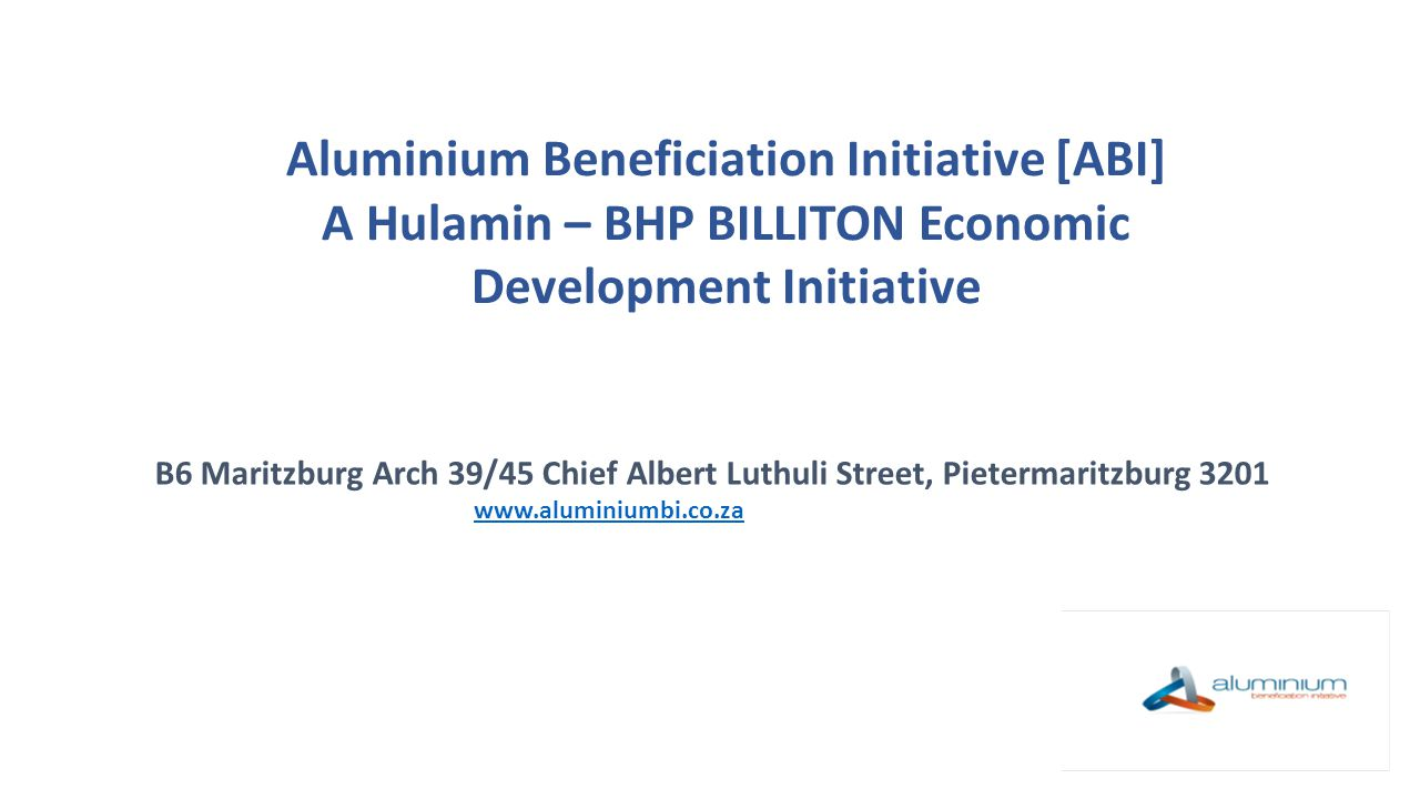 Aluminium Beneficiation Initiative [ABI]